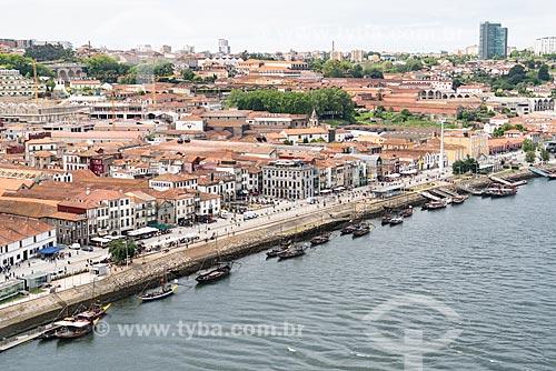 Cais do Rio Douro na Vila Nova de Gaia  - Vila Nova de Gaia - Distrito do Porto - Portugal