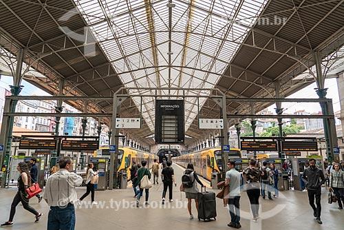 Interior da estação de trens São Bento  - Porto - Distrito do Porto - Portugal