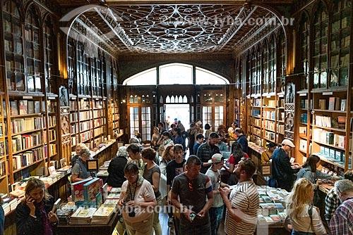 Interior da Livraria Lello & Irmão ou Livraria Chardron (1881)  - Porto - Distrito do Porto - Portugal