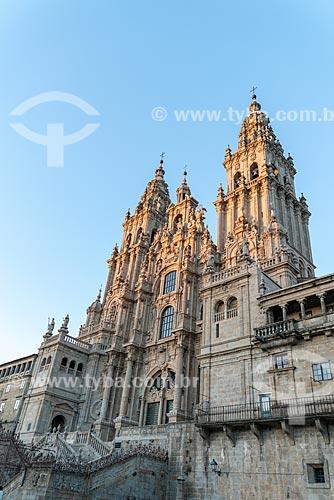 Fachada da Catedral da Santiago de Compostela (1112)  - Santiago de Compostela - Província de Corunha - Espanha