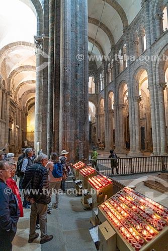 Velário eletrônico no interior da Catedral da Santiago de Compostela (1112)  - Santiago de Compostela - Província de Corunha - Espanha