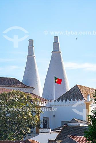 Chaminés cônicas da cozinha do Palácio Nacional de Sintra  - Concelho de Sintra - Distrito de Lisboa - Portugal