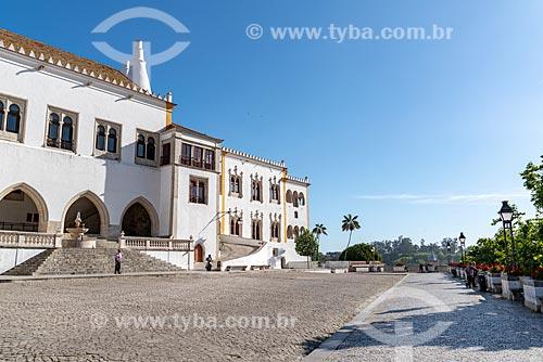 Fachada do Palácio Nacional de Sintra  - Concelho de Sintra - Distrito de Lisboa - Portugal