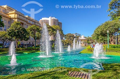 Chafariz no lago artificial da Praça da Liberdade  - Belo Horizonte - Minas Gerais (MG) - Brasil