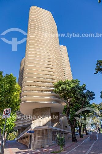 Fachada do Edifício Niemeyer (1955) na Praça da Liberdade  - Belo Horizonte - Minas Gerais (MG) - Brasil