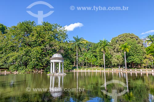 Vista da Lagoa do Quiosque no Parque Municipal Américo Renné Giannetti (1897)  - Belo Horizonte - Minas Gerais (MG) - Brasil