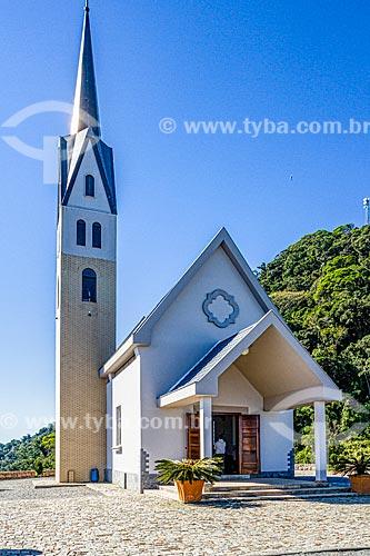Fachada da Chiesetta Alpina - monumento ao imigrante - no Morro Boa Vista  - Jaraguá do Sul - Santa Catarina (SC) - Brasil