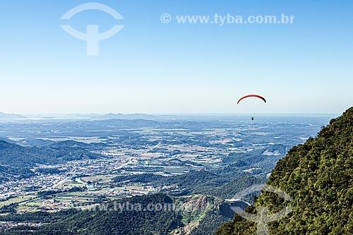 Voo de parapente no Morro Boa Vista  - Jaraguá do Sul - Santa Catarina (SC) - Brasil