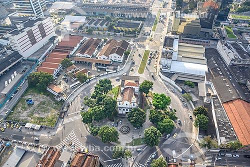 Foto aérea da Igreja de Santo Cristo dos Milagres (1879)  - Rio de Janeiro - Rio de Janeiro (RJ) - Brasil
