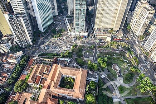 Foto aérea do Largo da Carioca  - Rio de Janeiro - Rio de Janeiro (RJ) - Brasil
