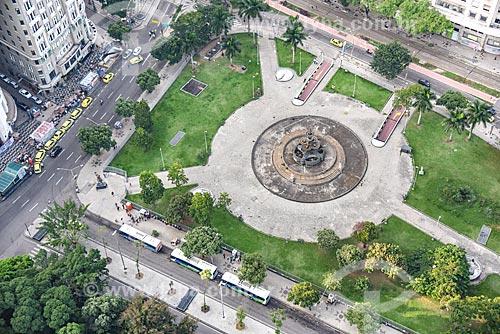 Foto aérea da Praça Mahatma Gandhi  - Rio de Janeiro - Rio de Janeiro (RJ) - Brasil