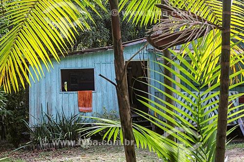 Casa em comunidade ribeirinha na Reserva de Desenvolvimento Sustentável Puranga Conquista  - Manaus - Amazonas (AM) - Brasil