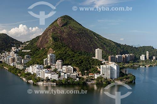 Foto aérea do Morro dos Cabritos na Lagoa Rodrigo de Freitas  - Rio de Janeiro - Rio de Janeiro (RJ) - Brasil