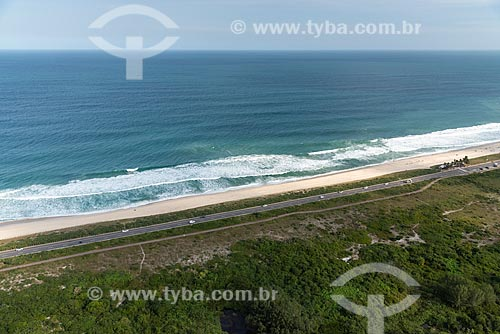 Foto aérea da Praia da Reserva  - Rio de Janeiro - Rio de Janeiro (RJ) - Brasil