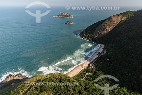 Foto aérea do Parque Natural Municipal da Prainha  - Rio de Janeiro - Rio de Janeiro (RJ) - Brasil