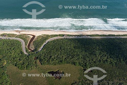 Foto aérea da Praia de Grumari  - Rio de Janeiro - Rio de Janeiro (RJ) - Brasil