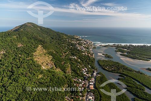 Foto aérea do bairro de Barra de Guaratiba  - Rio de Janeiro - Rio de Janeiro (RJ) - Brasil