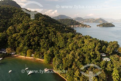 Foto aérea da orla da Baía de Ilha Grande  - Angra dos Reis - Rio de Janeiro (RJ) - Brasil