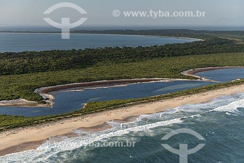 Foto aérea da Restinga da Marambaia - área protegida pela Marinha do Brasil  - Rio de Janeiro - Rio de Janeiro (RJ) - Brasil