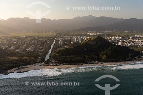 Foto aérea da Praia da Macumba  - Rio de Janeiro - Rio de Janeiro (RJ) - Brasil