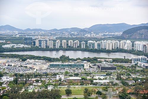 Foto aérea do bairro da Barra da Tijuca  - Rio de Janeiro - Rio de Janeiro (RJ) - Brasil