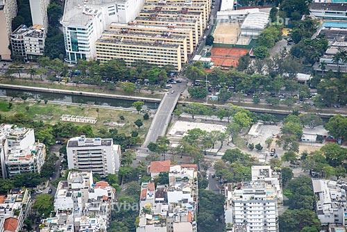 Foto aérea do sobre o canal do Jardim de Alah a Cruzada São Sebastião  - Rio de Janeiro - Rio de Janeiro (RJ) - Brasil