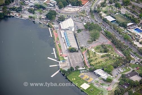 Foto aérea do Complexo Lagoon - Estádio de Remo da Lagoa  - Rio de Janeiro - Rio de Janeiro (RJ) - Brasil