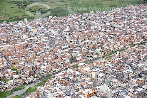 Foto aérea do favela de Rio das Pedras  - Rio de Janeiro - Rio de Janeiro (RJ) - Brasil