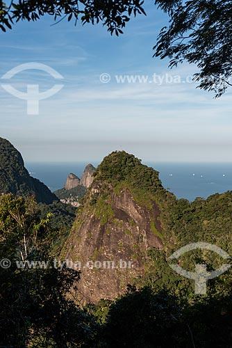 Vista do Morro Dois Irmãos a partir da Pedra Bonita  - Rio de Janeiro - Rio de Janeiro (RJ) - Brasil