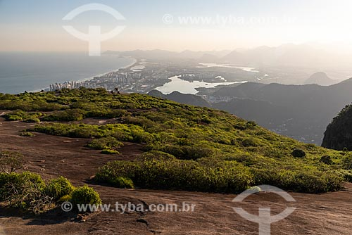 Vista do bairro da Barra da Tijuca a partir da Pedra Bonita  - Rio de Janeiro - Rio de Janeiro (RJ) - Brasil