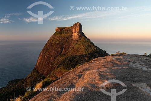 Vista da Pedra da Gávea a partir da Pedra Bonita durante o amanhecer  - Rio de Janeiro - Rio de Janeiro (RJ) - Brasil