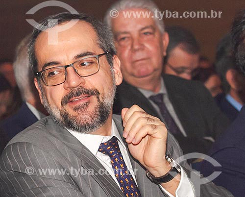 Detalhe de Abraham Weintraub - Ministro da Educação - durante a abertura do 12º Congresso Brasileiro da Educação Superior Particular (CBESP)  - Belo Horizonte - Minas Gerais (MG) - Brasil