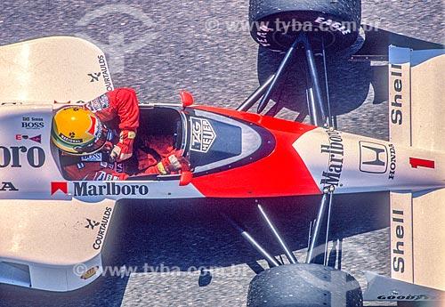 Ayrton Senna durante o Grande Prêmio do Brasil de Fórmula 1  - Rio de Janeiro - Rio de Janeiro (RJ) - Brasil