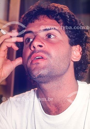 Detalhe do cantor Cazuza em sua casa  - Rio de Janeiro - Rio de Janeiro (RJ) - Brasil