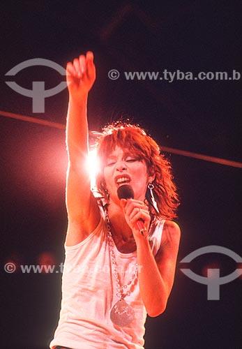 Detalhe da cantora Rita Lee - década de 80  - Rio de Janeiro - Rio de Janeiro (RJ) - Brasil