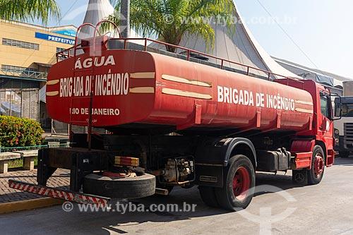 Caminhão da brigada de incêndio na Cidade do Samba Joãozinho Trinta  - Rio de Janeiro - Rio de Janeiro (RJ) - Brasil