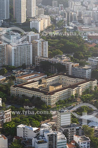 Vista do Instituto Benjamin Constant a partir do mirante do Morro da Urca  - Rio de Janeiro - Rio de Janeiro (RJ) - Brasil