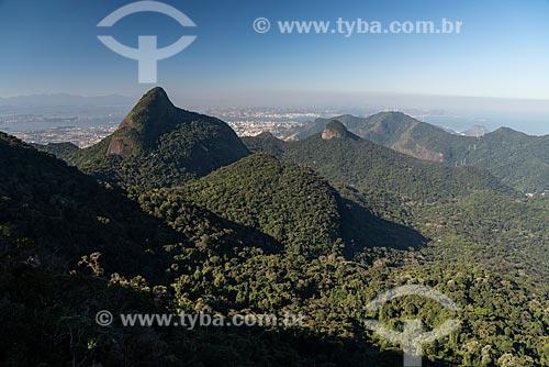 Vista do Pico da Tijuca a partir do Bico do Papagaio  - Rio de Janeiro - Rio de Janeiro (RJ) - Brasil