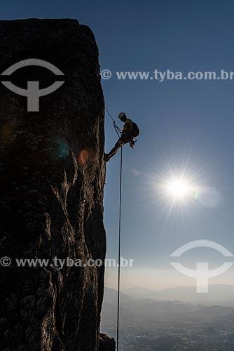 Rapel no Bico do Papagaio - Parque Nacional da Tijuca  - Rio de Janeiro - Rio de Janeiro (RJ) - Brasil