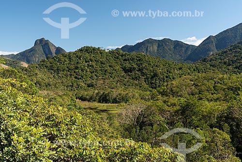 Vista da Reserva Ecológica de Guapiaçu a partir da torre panorâmica de observação de aves  - Cachoeiras de Macacu - Rio de Janeiro (RJ) - Brasil