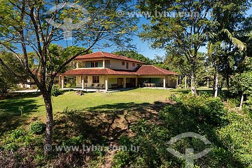 Casa da pesquisa na Reserva Ecológica de Guapiaçu  - Cachoeiras de Macacu - Rio de Janeiro (RJ) - Brasil