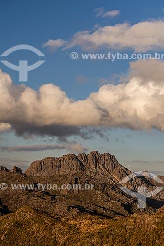 Pico das Agulhas Negras no Parque Nacional de Itatiaia durante o pôr do sol  - Itatiaia - Rio de Janeiro (RJ) - Brasil