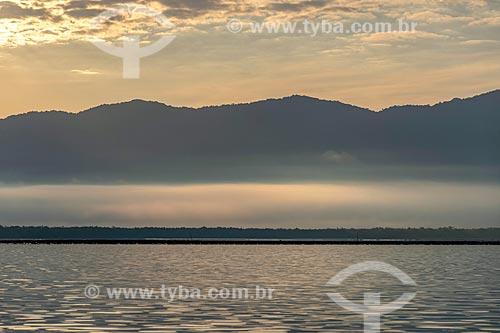 Vista da baía de Antonina durante o amanhecer  - Antonina - Paraná (PR) - Brasil