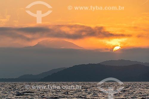 Vista do pôr do sol na Baía de Paranaguá  - Paranaguá - Paraná (PR) - Brasil
