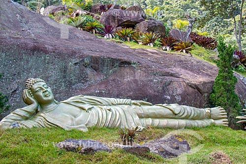 Estátua budista no Vale do Amor  - Petrópolis - Rio de Janeiro (RJ) - Brasil