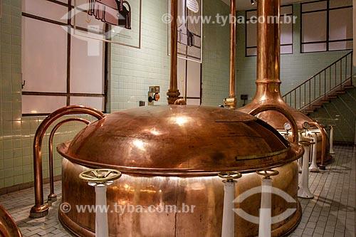 Detalhe de tanque da cervejaria Bohemia  - Petrópolis - Rio de Janeiro (RJ) - Brasil