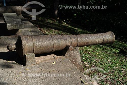 Canhão tipo Colubrina em exibição no Museu Histórico da Cidade do Rio de Janeiro - antiga casa de verão do Marquês de São Vicente  - Rio de Janeiro - Rio de Janeiro (RJ) - Brasil