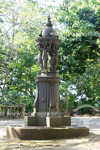 Fonte Wallace no Museu Histórico da Cidade do Rio de Janeiro - antiga casa de verão do Marquês de São Vicente  - Rio de Janeiro - Rio de Janeiro (RJ) - Brasil