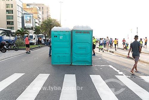 Banheiro químico na Avenida Vieira Souto  - Rio de Janeiro - Rio de Janeiro (RJ) - Brasil