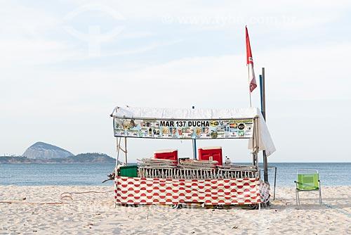 Barraca na orla da Praia de Ipanema  - Rio de Janeiro - Rio de Janeiro (RJ) - Brasil